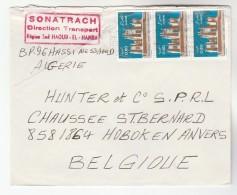 1988 ALGERIA Stamps COVER Sonatrach Direction Transport  Haud El Hamra  To Belgium - Algeria (1962-...)