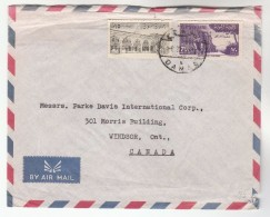 1959 Air Mail SYRIA Stamps COVER To Canada - Syria