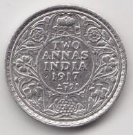 @Y@    Brittisch India   2 Annas  1917 Argent  (3041) - Inde