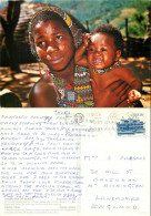 Zulu Girl And Baby, South Africa Postcard Posted 1982 Stamp - Südafrika