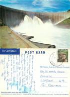 Kariba Dam Wall, Zimbabwe Postcard Posted 1981 Stamp - Zimbabwe