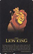 Télécarte NEUVE Japon DISNEY / 110-207899 - SERIE NOIRE - ROI LION KING - Japan MINT Movie Phonecard - Disney