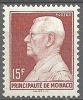 "Monaco YT 305B "" Prince Louis II 15F. Brun-carminé "" 1948-49 Neuf** - Unused Stamps"