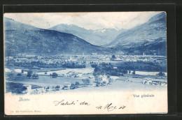 Cartolina Aoste, Vue Générale, Panoramablick Auf Die Stadt - Altre Città