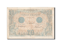 France, 20 Francs, 20 F 1905-1913 ''Bleu'', 1913, 1913-02-07, KM:68b, TTB, Fa... - 20 F 1905-1913 ''Bleu''