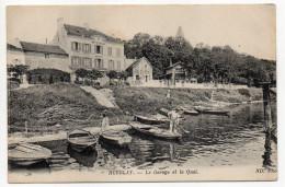 HERBLAY--1921--Le Garage Et Le Quai (petite Animation,Restaurant Camus) N° 9 éd ND Phot..............à Saisir - Herblay