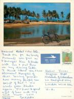Bicycle, Marang Fishing Village, Malaysia Postcard Posted 1990s Stamp - Malaysia