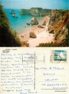 Praia Da Rocha, Portugal Postcard Posted 1985 Stamp - Faro