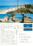 Praia Da Luz, Portugal Postcard Posted 2008 Stamp - Faro