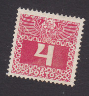 Austria, Scott #J36, Mint Hinged, Postage Due, Issued 1910 - Postage Due
