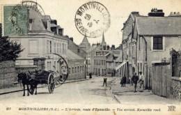 76 MONTIVILLIERS  L´Arrivée Route D´Epouville  Très Animée - Montivilliers