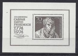 Germany (DDR) 1974  Caspar David Friedrich  (**) MNH  Mi.1962 (block 40) - [6] République Démocratique