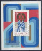 Germany (DDR) 1974  25 Jahre DDR  (**) MNH  Mi.1983 (block 41) - [6] Democratic Republic