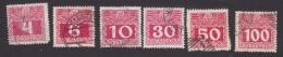 Austria, Scott #J36-J38, J42-J44, Used, Postage Due, Issued 1910 - Taxe