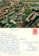 Aerial View, Pisa, PI Pisa, Italy Postcard Posted 1960s Stamp - Pisa