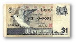 SINGAPORE - 1 Dollar - ND ( 1976 ) - P 9 - Serie D/92 - 2 Scans - Singapour
