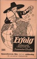 ! Alte Ansichtskarte Reklame, Werbekarte Briefmarkenzeitschrift Sammlerwoche, Sign. Laager, Geld, Money, München, Wien - Briefmarken (Abbildungen)