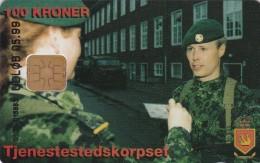 Denmark, DD 172, Tjenestestedskorpset, Only 1.250 Issued, 2 Scans. - Danemark