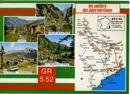 FRANCIA  ALPES MARITIMES   Les Sentiers GR 5-52  Sospel  St-Dalmas De Tende  St-Dalmas Valdeblore  Valee De La Roya - Menton