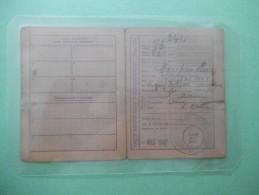 CARTE INDIVIDUELLE D'ALIMENTATION TITRE 3021 COMMUNE D'ANY MARTIN RIEUX AOUT 1948 - Historische Dokumente