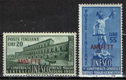 TRIESTE - AMGFTT - 1950 - 5^ CONFERENZA DELL'UNESCO - NUOVI MNH - Mint/hinged