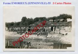 Ferme EMORIEUX-EPINONVILLE-Baraques Du CAMPS-Concert-3x CARTES PHOTOS Allemandes-Guerre 14-18-1 WK-France-55- - France