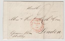 Mex189/  Mexiko, Brief, Franco Nach London 1836. In Diesem Jahr Hat Spanien Die Selbständigkeit Anerkannt. - Mexiko