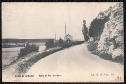 VALLEE DE LA MEUSE - ROUTE ET PONT DE HOUX - édit. H.N. - Yvoir