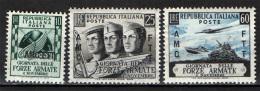 TRIESTE - AMGFTT - 1952 - GIORNATA DELLE FORZE ARMATE - GOMMA BRUNITA - NUOVI MNH - 7. Trieste