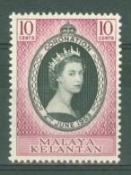 Malaya - Kelantan: 1953   Coronation      MH - Kelantan