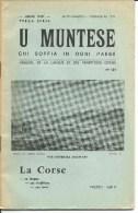 Corse, U Muntese, Mensuel De La Langue Et Des Traditions Corses, 1971 N°134    (bon Etat) - Turismo Y Regiones