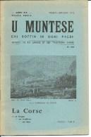 Corse, U Muntese, Mensuel De La Langue Et Des Traditions Corses, 1971 N°138  (bon Etat) - Turismo Y Regiones