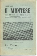 Corse, U Muntese, Mensuel De La Langue Et Des Traditions Corses, 1972 N°141 (bon Etat) - Turismo Y Regiones