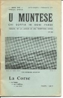 Corse, U Muntese, Mensuel De La Langue Et Des Traditions Corses, 1972 N°142 (bon Etat) - Turismo Y Regiones