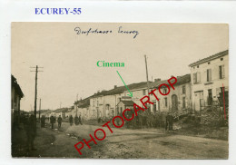 ECUREY-Cinema-CARTE PHOTO Allemande-Guerre 14-18-1 WK-France-55- - France