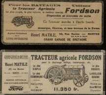 PUBLICITES - TRACTEURS FORDSON - Publicités Issues D´une Revue De 1924-26 Collées Sur Feuille A 4 - Agriculture - Vieux Papiers