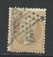 "YT 21 "" Napoléon III 10c. Bistre "" 1862 étoile Muette - 1862 Napoléon III"