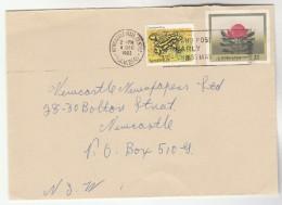 1983 Newcastle AUSTRALIA 3c FROG Stamps On UPRATED 27c FLOWER Postal STATIONERY COVER - Postal Stationery