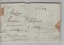 LAC écrit De Liège 23/Mars/1804 Griffe Liège Taxé 3 V.Felui(Feluy) Cito,Cito,Cito PR3427 - 1794-1814 (French Period)