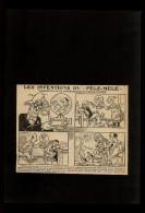 CINEMA - Idéoscope - Cinématographie De La Pensée - DESSIN Tiré D´une Revue Et Collé Sur Feuille Noire A4 - 1924 - Vieux Papiers