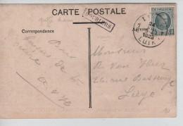 TP 193 S/CP C.Liège 24/7/1923 + Griffe Encadrée De Bourlers V.Liège PR3429 - Postmark Collection