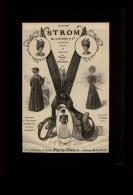 PUBLICITES - STROM Tailleurs - CISEAUX - Publicité Issue D´une Revue De 1907 Collée Sur Feuille Noire - Publicités