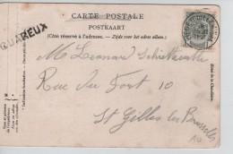 TP 81 S/CP De Nonceveux(Aywaille) C.Liège(Guillemins) 18/7/?+Griffe Quareux(Aywaille) V.St.Gilles(BXL) PR3430 - Postmark Collection