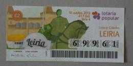 PORTUGAL   2013 - LOTARIA POPULAR -  41ª   - 2 SCANS - (Nº16067) - Billets De Loterie