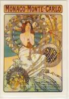 Poster Postcard, Alphonse MUCHA -  Monaco - Monte Carlo,  1897, Auflage Parkland Verlag Um ´70 - ´80 - Mucha, Alphonse