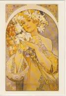 Alphonse MUCHA -  La Fleur, Blume, 1897, Auflage Parkland Verlag Um ´70 - ´80 - Mucha, Alphonse