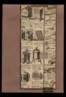 PUBLICITES - APICULTURE - Publicité Issue D´une Revue De 1932 Collée Sur Feuille A 4 - Publicités