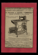 PUBLICITES - MACHINE A COUDRE OMNIA - Publicité Issue D´une Revue De 1928 Collée Sur Feuille A 4 - Pubblicitari