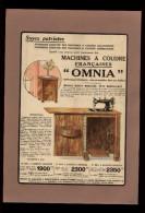 PUBLICITES - MACHINE A COUDRE OMNIA - Publicité Issue D´une Revue De 1938 Collée Sur Feuille A 4 - Publicités