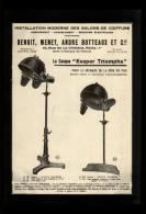 PUBLICITES - COUFFURE - Salons De Coiffure - COIFFEURS -Publicité Issue D´une Revue De 1929 Et Collée Sur Feuille A 4 - Pubblicitari